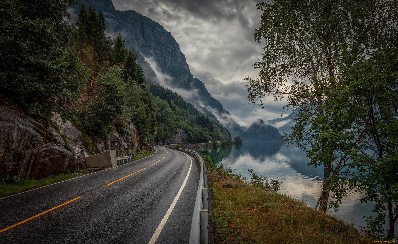 природа, дороги, норвегия